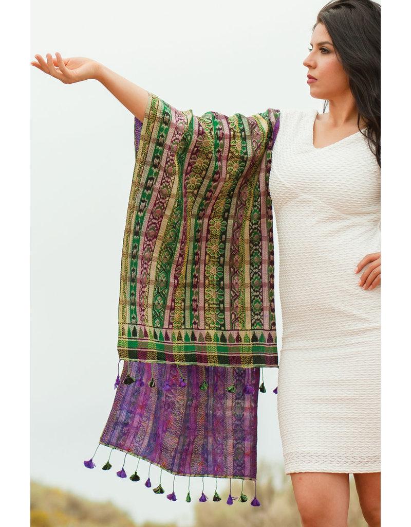 Kantha Recycled Silk Sari Scarf - Asst.