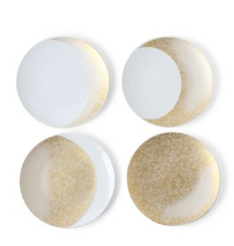 Gold Moon Ceramic Plate Set