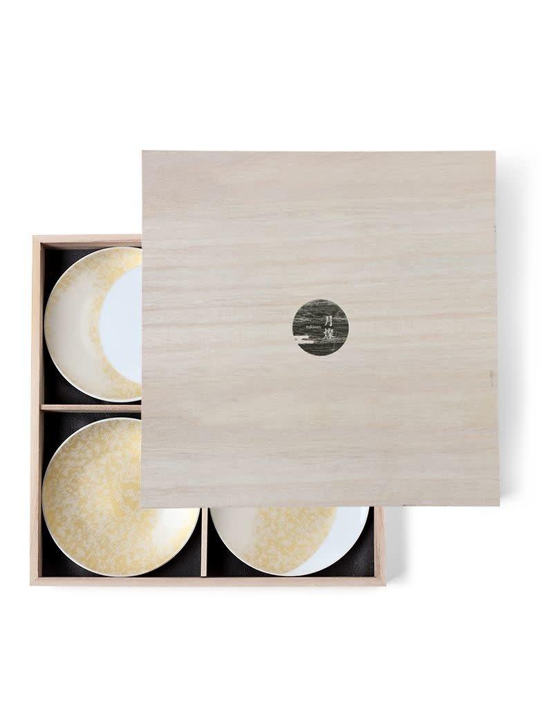 Gold Moon Ceramic Plate Set