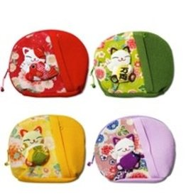 BAG Zipper Fortune Cat 6.5""