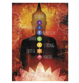 Card INSP Chakra Buddha Sillouette Divine Connected Expressive