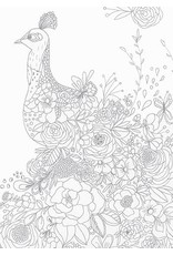 Card COLORING Peacock