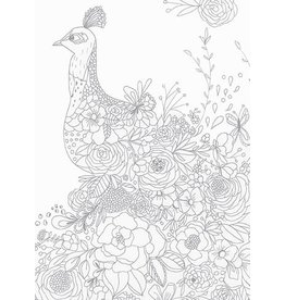 Card COLORING Peacock