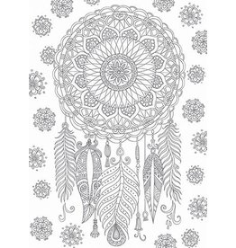 Card COLORING Dreamcatcher