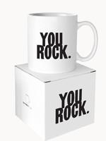 MINI MUG You Rock - 3oz Ceramic w/ Gift Box
