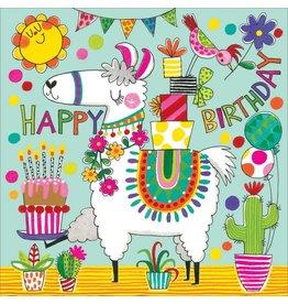 Card BDAY PUZZLE Llama