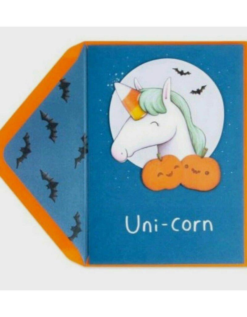 CARD HALLOWEEN Unicorn Magical Halloween