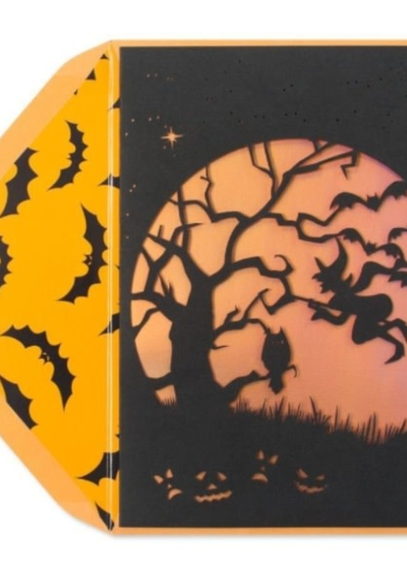 CARD HALLOWEEN Witch and Owl