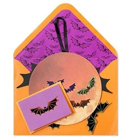 CARD HALLOWEEN Pumpkin and Bats Mobile