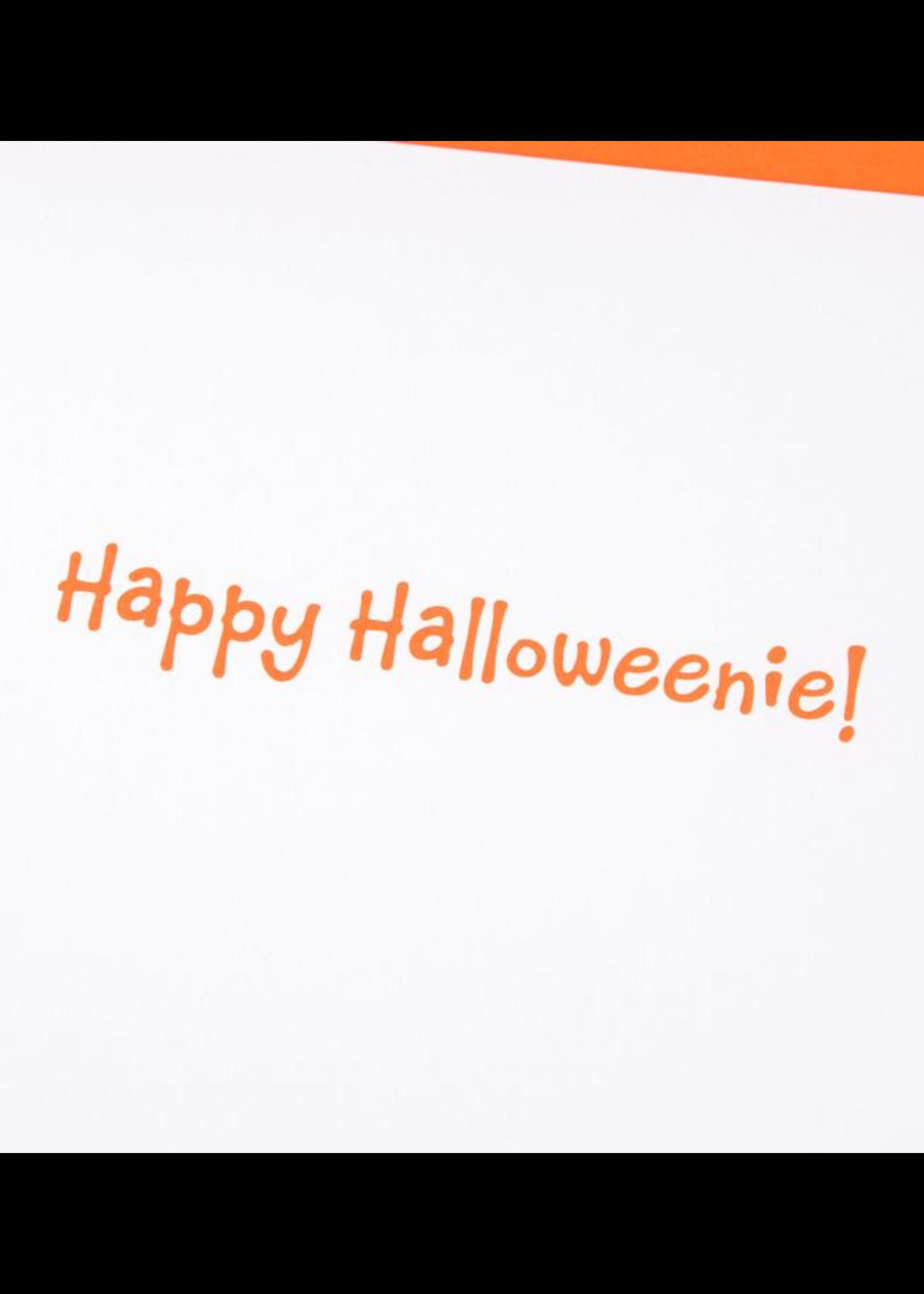 CARD HALLOWEEN Happy Halloweenie