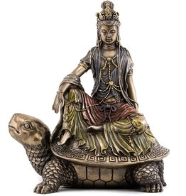 Statue Quan Yin On Tortoise Watermoon 6