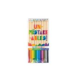 Un-Mistakables 12 Erasable Colored Pencils