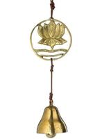 """BELL Rising Lotus Door Chime 12"""" BRONZE N. INDIA*"""