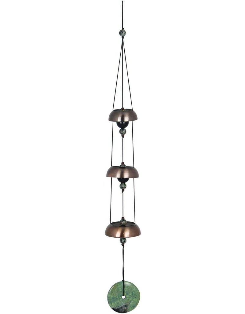 """CHIME TEMPLE BELLS 3 / 21"""" BRASS/TRQ Color Accents"""
