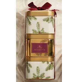 Frasier Fir Candle Metal Tin SET/3 9oz