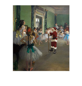 Card BX XMAS Santa at Ballet Class