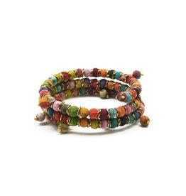 Aasha Coil Wrap Bracelet