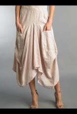 Blush Linen Skirt