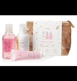 Kimono Rose Travel Set w/Beauty Bag