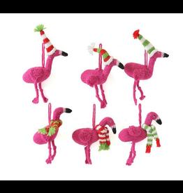 Ornament Flamingo w Accessories