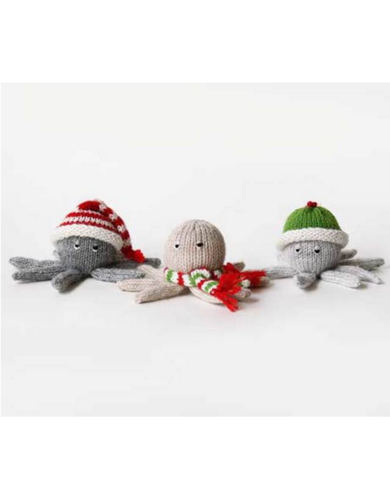 Ornament Octopus in Hat & Scarf