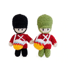 Melange Collection Crochet Drummer Boy Ornaments