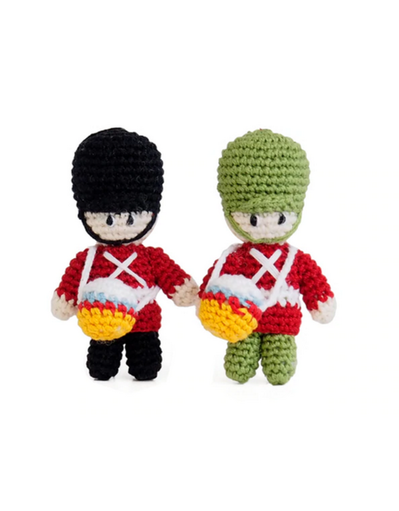 Melange Collection Crochet Drummer Boy Ornaments