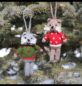 Ornament Cat in Sweater