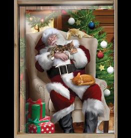 XMAS BX Cat Nap Santa W/Bamboo