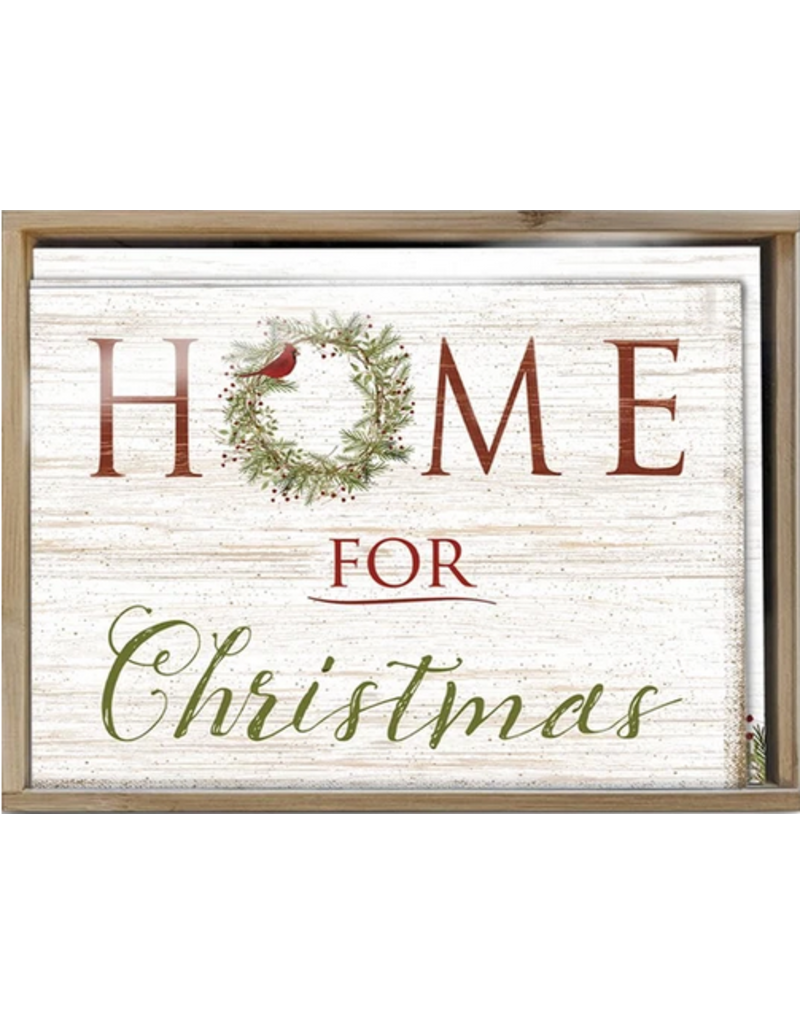 Card BX XMAS Home for Christmas W/Bamboo