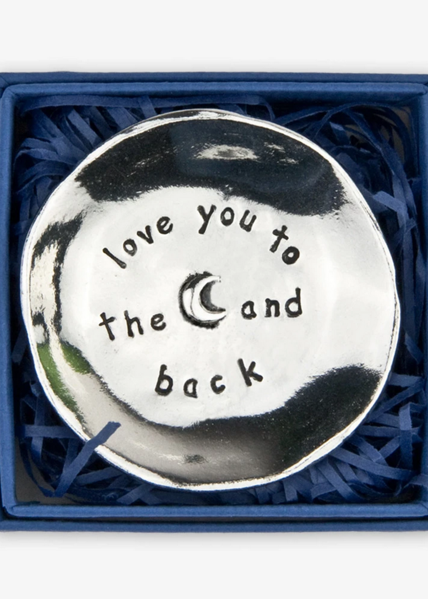 Pewter Charm Bowl Love You to the Moon