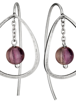 Earrings Fluorite Bead in Circle