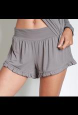 FAIRE Bamboo Ruffle Shorts Earl Grey