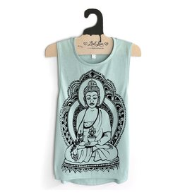 Seafoam Muscle Tank with Buddha