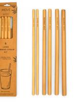 """Bamboo Step 10"""" Straw Kit - 6 Straws/1Brush"""