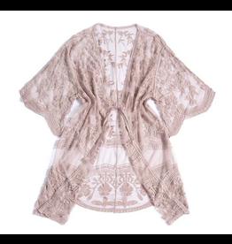 Lacy Kimono Blush