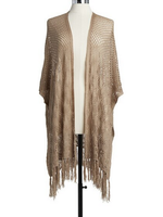 Taupe Crochet Duster