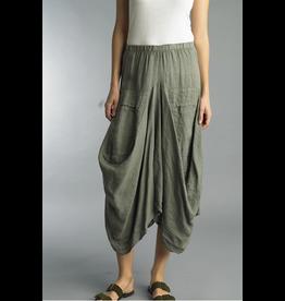 Olive Linen Skirt