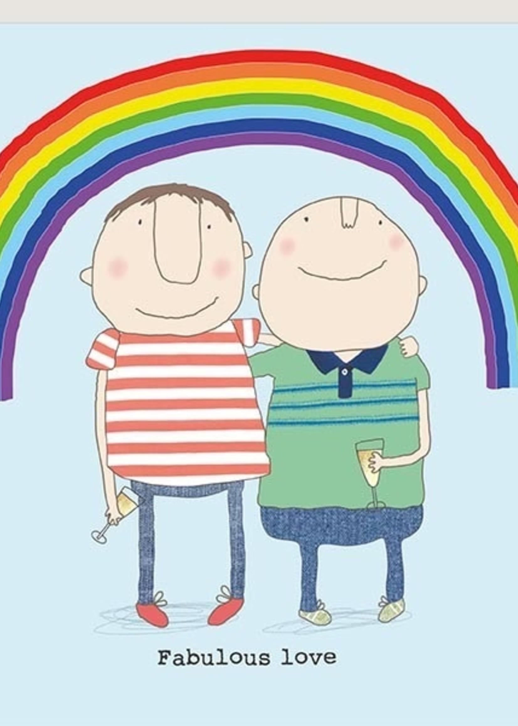 Card VDAY Fabulous Love Men Under Rainbow