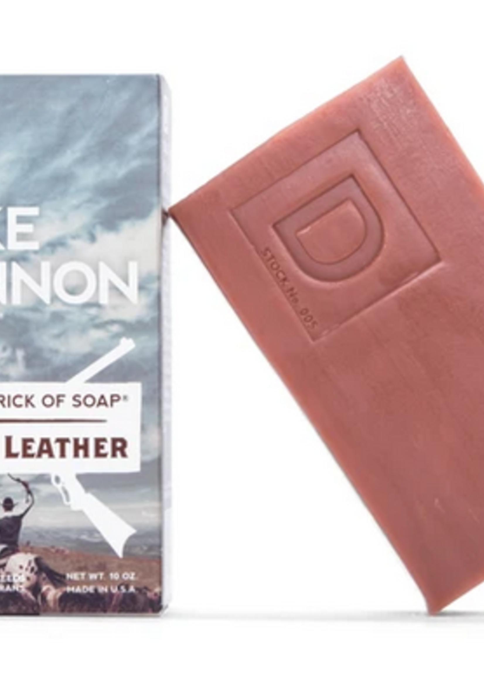 Big A** Brick of Soap- Leaf & Leather