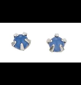 Earrings Bl Agate Small Stud