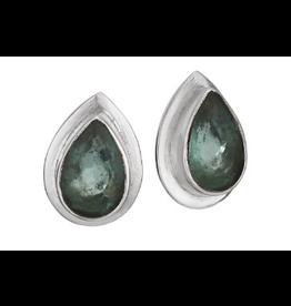 Earrings Apatite Tear Facet Stud