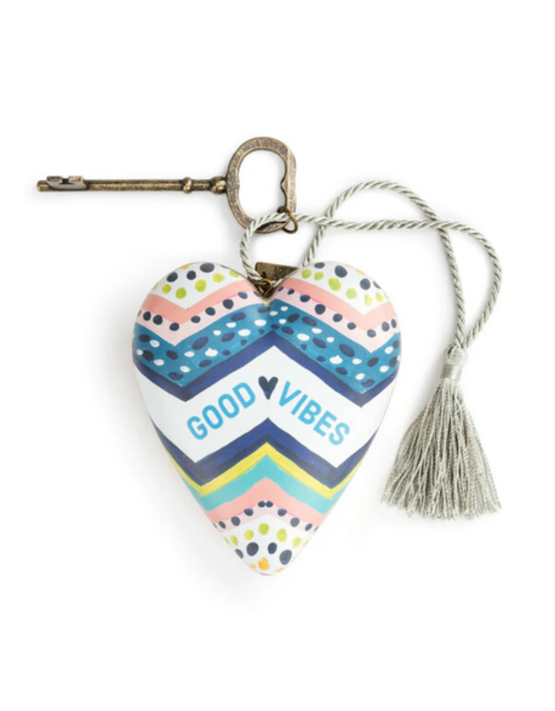Art Hearts w/ keys *  Good Vibes