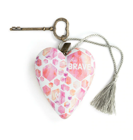 Art Hearts w/ keys * Be Brave