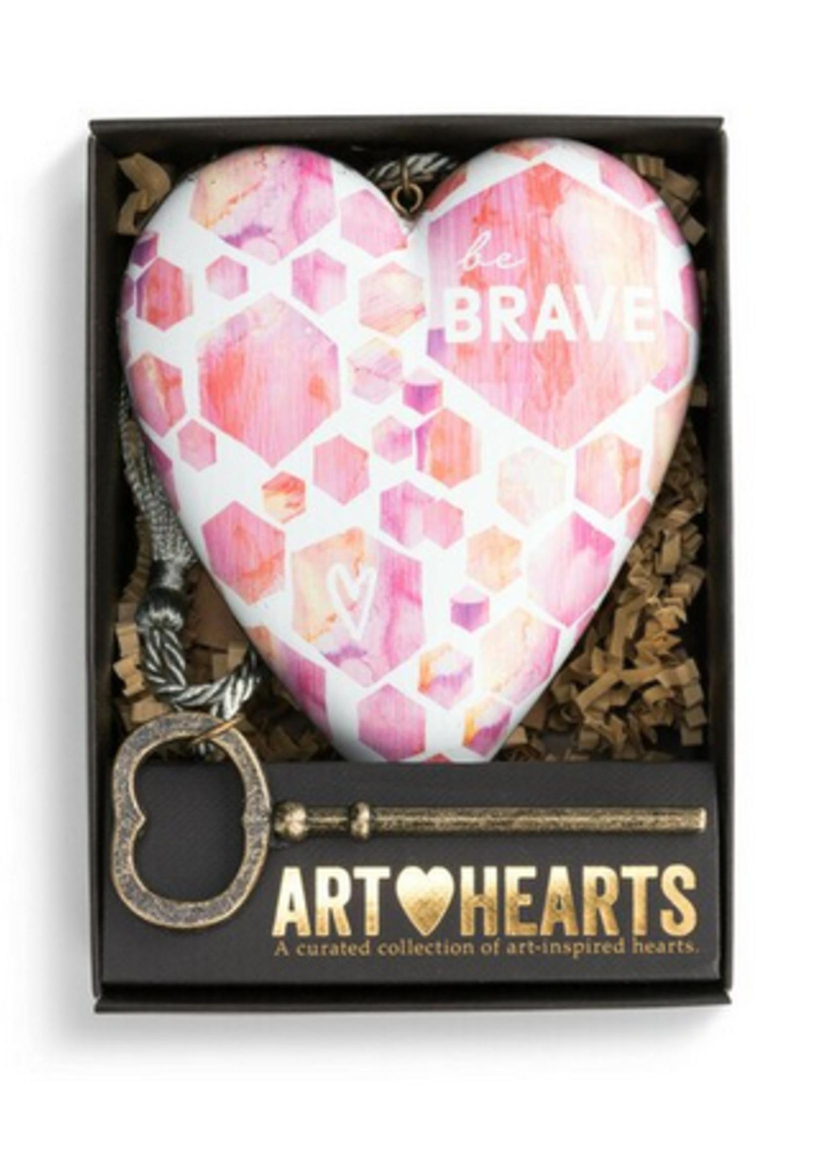 Art Hearts w/ keys * Be Brave