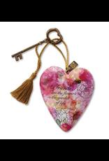 Art Hearts w/ keys * Friends Are Flowers