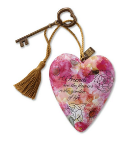 Art Hearts w/ keys * Friends Are Flowers