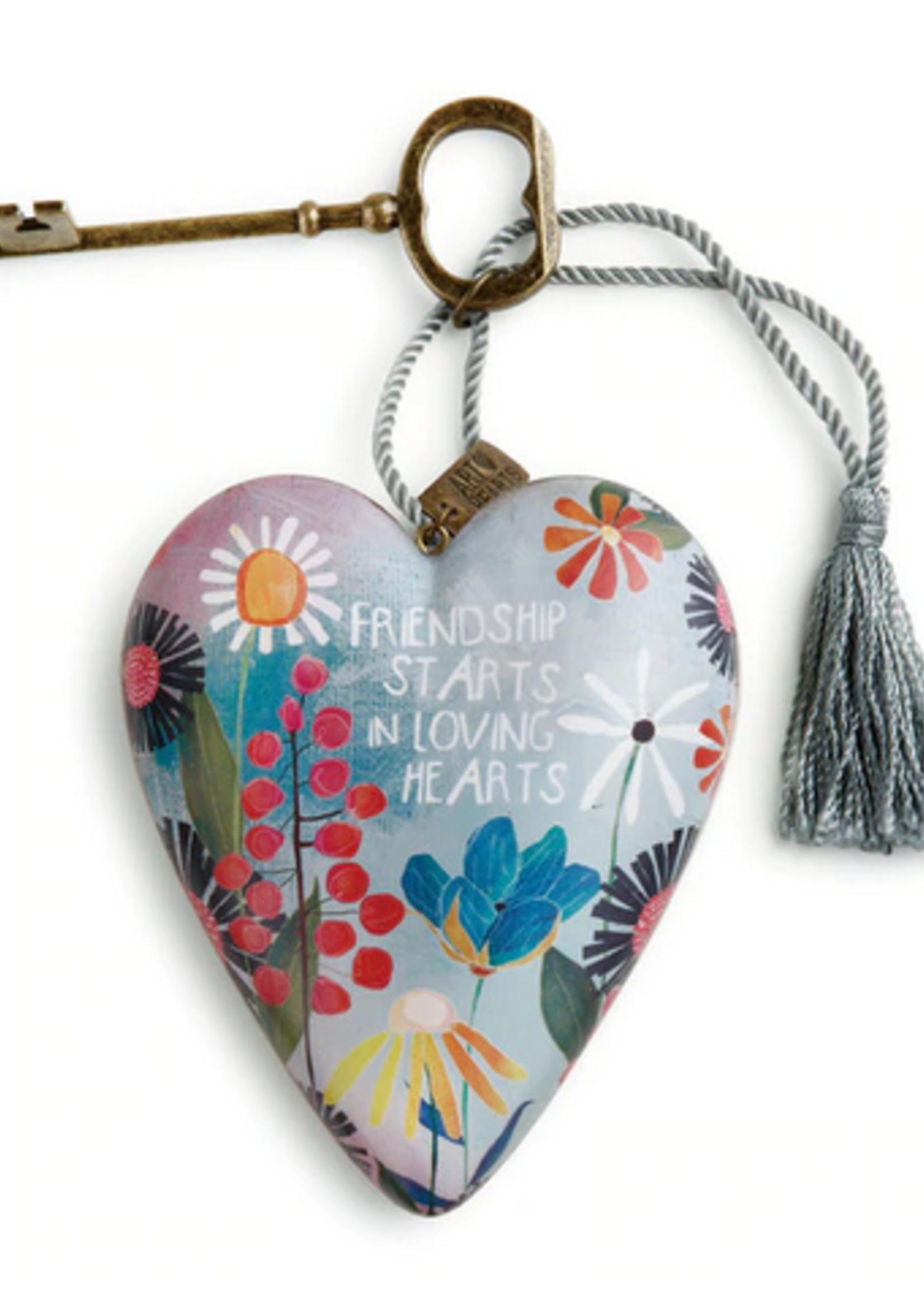 Art Hearts w/ keys * Friendship Loving