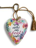 Art Hearts w/ keys Heart Smile
