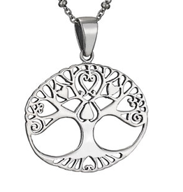 Necklace SS Heart Tree